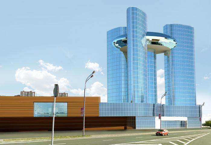 """Многофункциональный комплекс от архитектурного бюро """"ФаворитСтрой"""""""